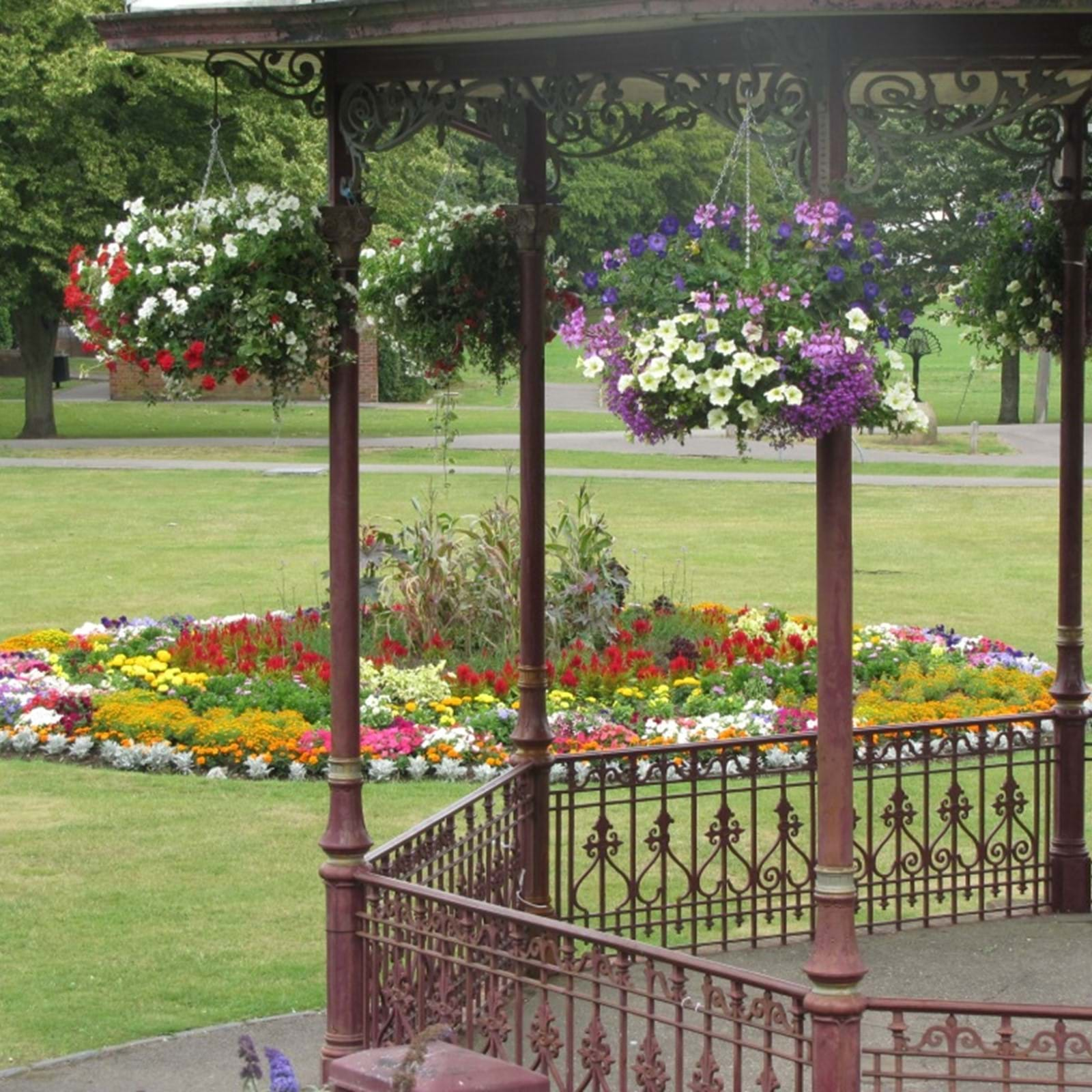 Bandstand With Flowers